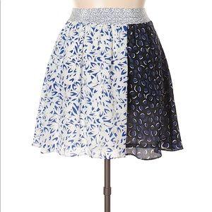 Maeve Carrizo Silk Block Printed Skirt w/ Pockets